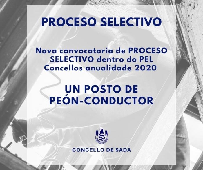CONTRATACIÓN DE UN POSTO DE PEÓN-CONDUCTOR (PEL 2020) - II CONVOCATORIA