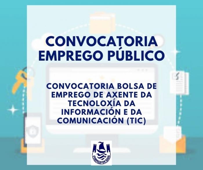 CONVOCATORIA BOLSA DE EMPREGO DE AXENTE DA TECNOLOXÍA DA INFORMACIÓN E DA COMUNICACIÓN (TIC)
