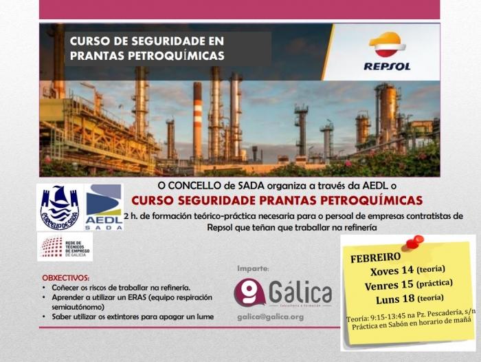Curso gratuito de seguridade en plantas petroquímicas