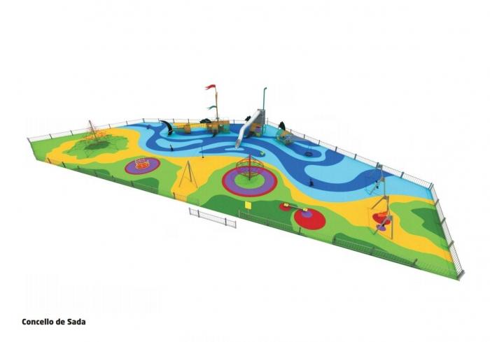 O novo parque infantil do Paseo Marítimo de Sada estará operativo en primaveira