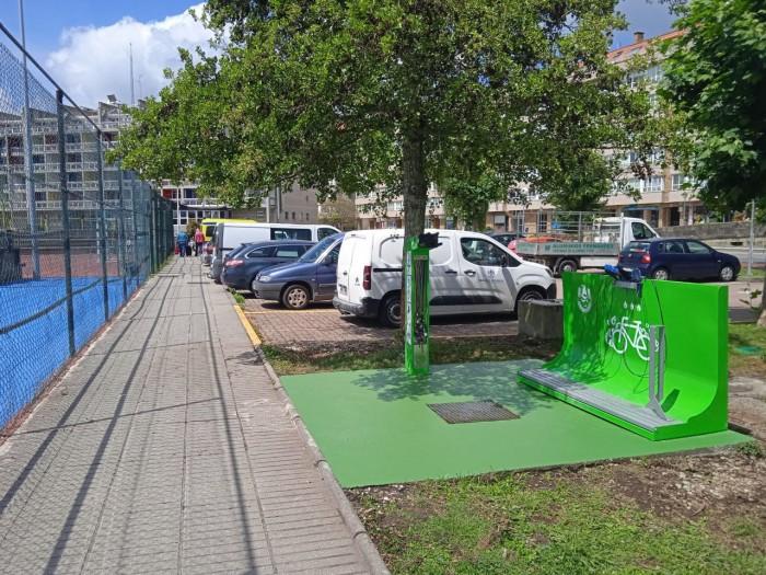 Sada instala unha estación de autorreparación e limpeza de bicicletas