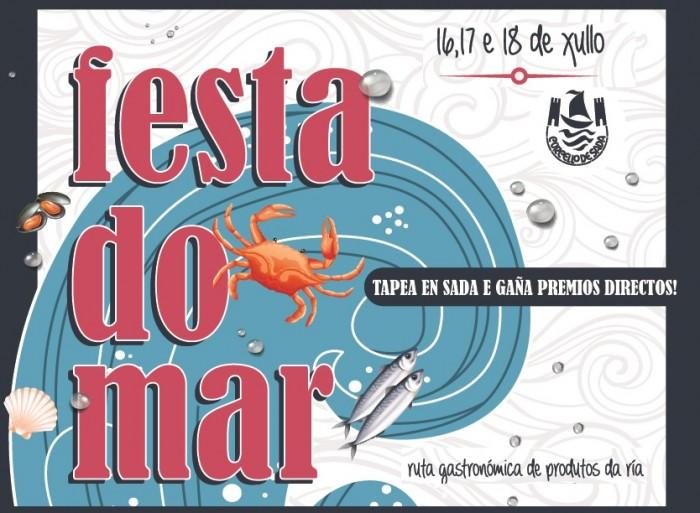 """Sada programa o roteiro gastronómico """"Festa do Mar"""" do 16 ao 18 de xullo"""