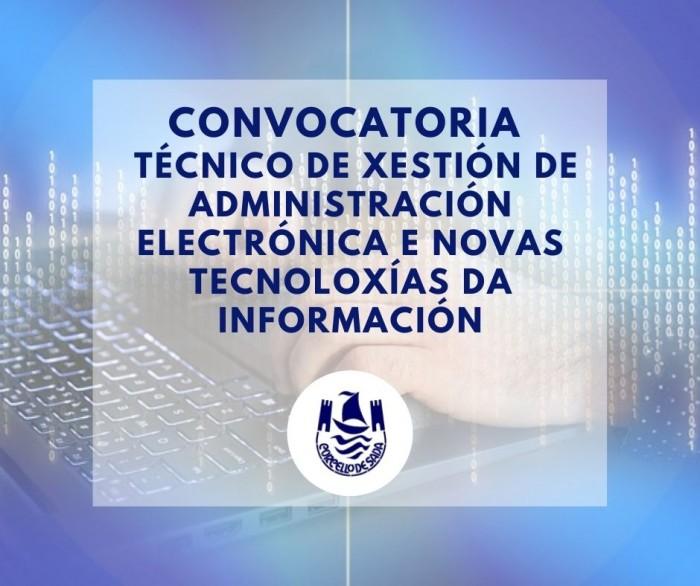 Convocatoria Técnico de Xestión de Administración Electrónica e Novas Tecnoloxías da Información