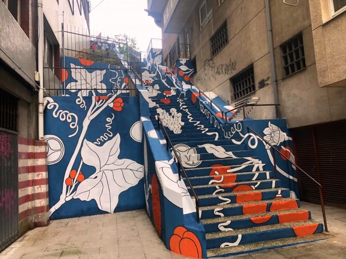 Sada dignifica a zona urbana das escaleiras da avenida da República Arxentina
