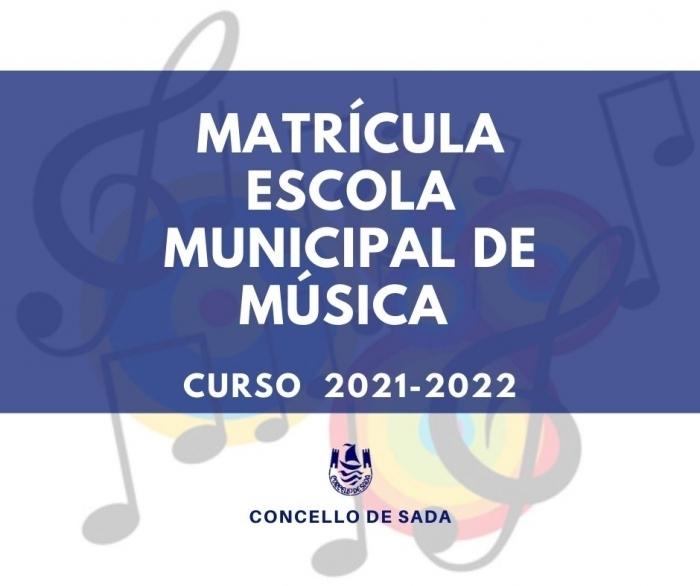 Matrícula Escola Municipal de Música Curso 2021-2022