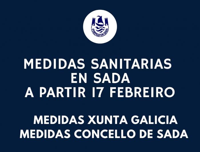 MEDIDAS COVID19 EN SADA A PARTIR DO 17 FEBREIRO