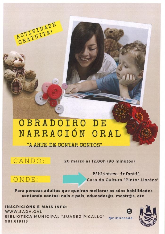 OBRADOIRO DE NARRACIÓN ORAL NA BIBLIOTECA DE SADA