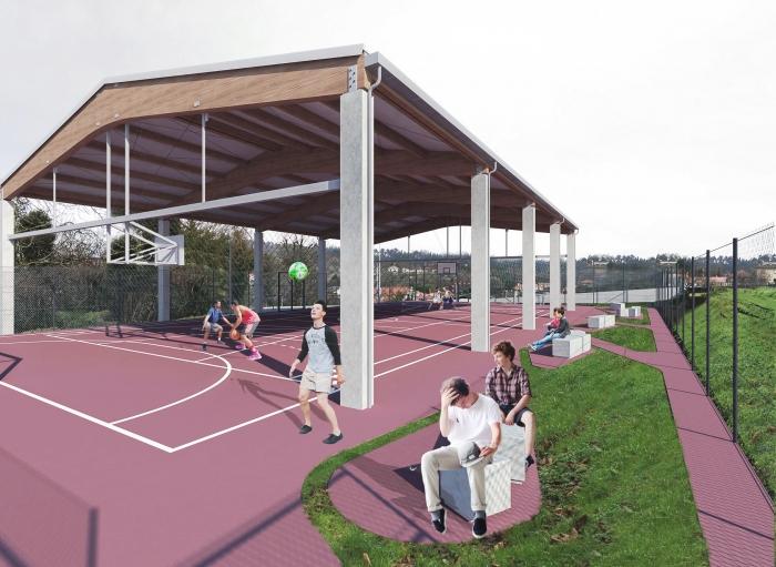 Sada cubrirá a pista polideportiva de Mondego