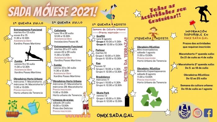 SADA MÓVESE 2021 ADIANTO DE ACTIVIDADES